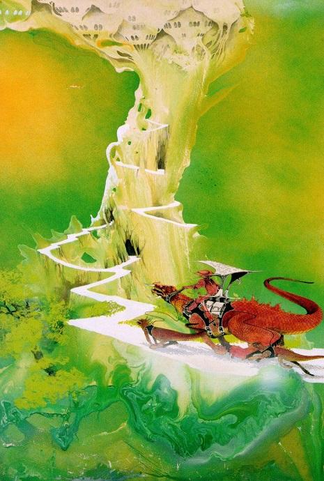"""Roger Dean's """"Green Castle,"""" early 70's"""