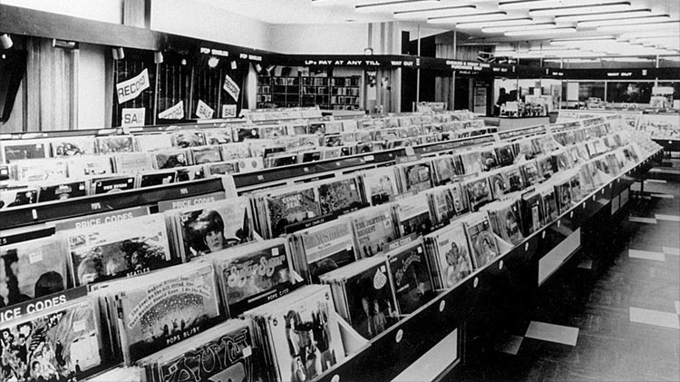 Tower Records on Sunset in 1971